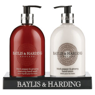 Baylis & Harding Black Pepper & Ginseng Hand Care Duo Set, , large