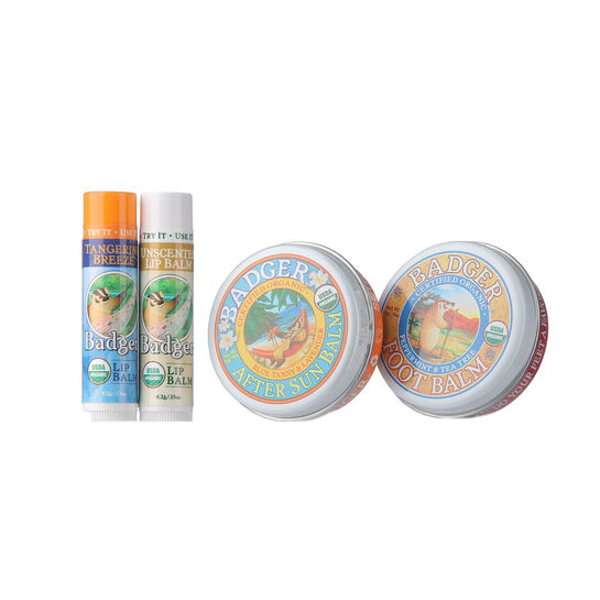 Badger Balm Summer Essentials With Free Gift, , large