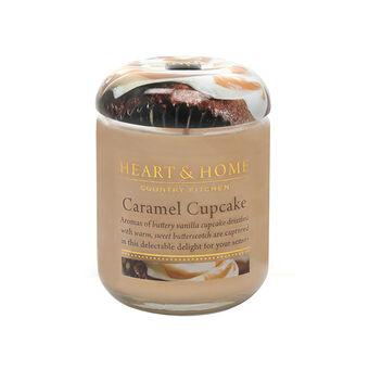 Heart & Home Caramel Cupcake Small Candle Jar 274g, , large