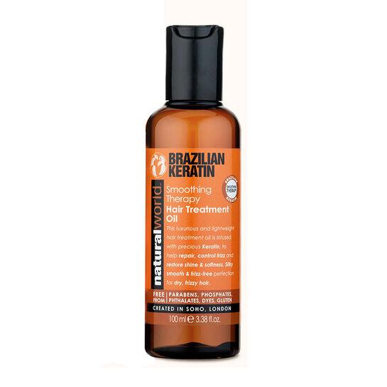 Natural World Brazilian Keratin Hair Treatment Oil 100ml, , large