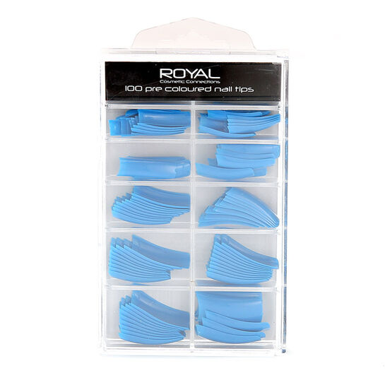 Royal 100 Pre Coloured Nail Tips, , large