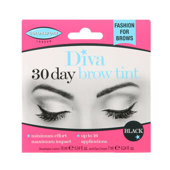 Colorsport Diva 30 Day Brow Tint Black, , large