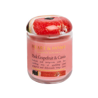 Heart & Home Pink Grapefruit & Cassis Small Candle Jar 274g, , large