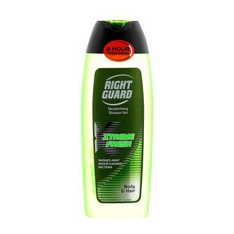 Right Guard Xtreme Fresh Hair & Body Shower Gel 250ml, , large