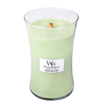 WoodWick Green Tea and Lime Large Candle, , large