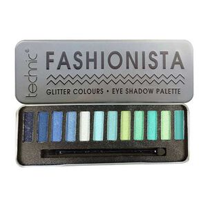 Technic Fashionista Glitter Eyeshadow Palette Blues & Greens, , large