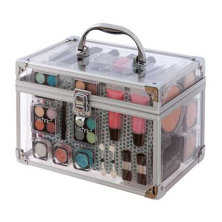 Technic Medium Clear Train Case with Cosmetics, , large