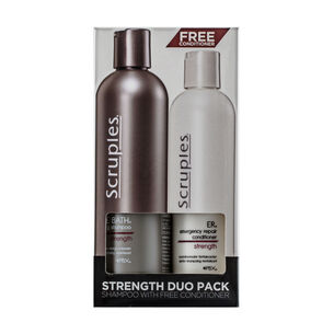 Scruples Strength Duo Conditioner 250ml Shampoo 350ml, , large