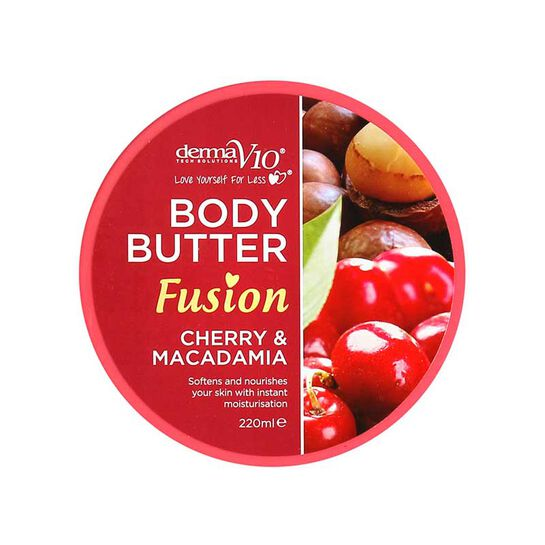 DermaV10 Body Butter Fusion Cherry & Macadamia 220ml, , large