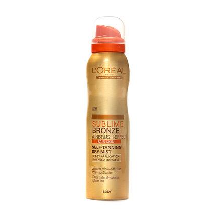 L'Oréal Sublime Bronze Self Tanning Body Mist Fair 150ml, , large