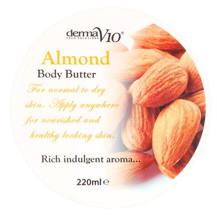 Derma V10 Body Butter Almond 220ml, , large