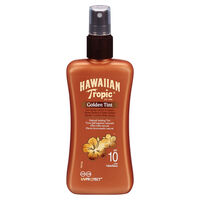 Hawaiian Tropic Golden Tint Sun Spray Lotion SPF10 200ml, , large