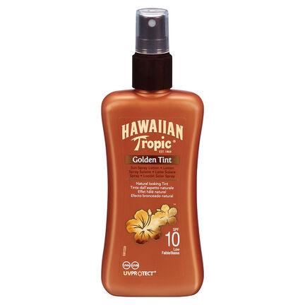 Hawaiian Tropic Golden Tint Sun Spray Lotion SPF10 200ml, , large