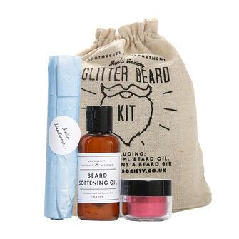 Men's Society Glitter Beard Kit, , large