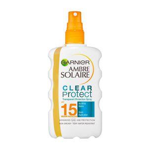 Garnier Ambre Solaire Clear Protect Sun Spray SPF15 200ml, , large