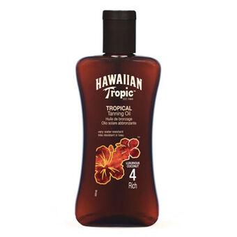 Hawaiian Tropic Tanning Oil Rich SPF4 200ml, , large