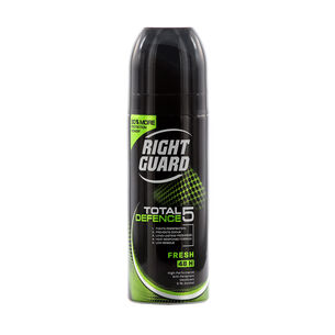 Right Guard Total 5 Defence Fresh Anti Perspirant 150ml, , large