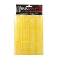 Hair Tools Medium Velcro Rollers Yellow 32mm, , large