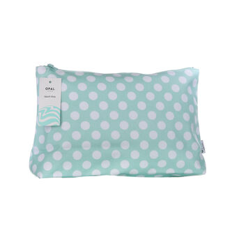 Opal Crafts Large Green Dot Wash Bag, , large