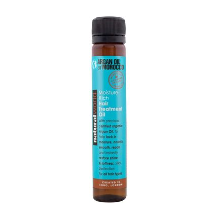 Natural World Moroccan Argan Oil Hair Treatment Oil 25ml, , large