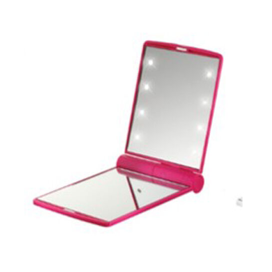 Flo Soft Touch Compact Mirror Fuchsia, , large