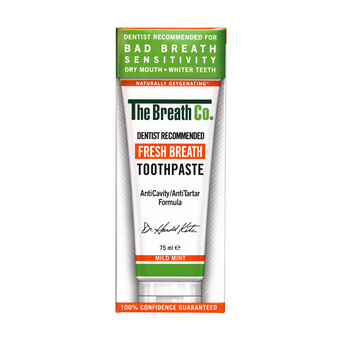The Breath Co Fresh Breath Toothpaste Mild Mint 75ml, , large