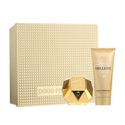 paco rabanne lady million gift set 80ml fragrance direct. Black Bedroom Furniture Sets. Home Design Ideas