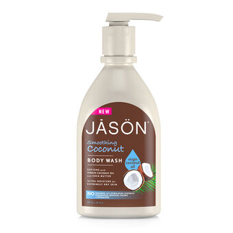 Jason Smoothing Coconut Body Wash With Pump 887ml, , large