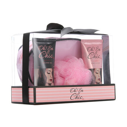 Creative Colours Oh So Chic Wash Bag Gift Set 2 x 90ml, , large