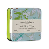 Scottish Fine Soaps Green Tea Triple Milled Soap 100g, , large
