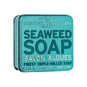 Scottish Fine Soaps Seaweed Soap in a Tin 100g, , large