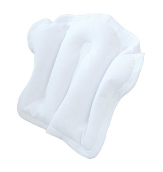 Opal Crafts Inflatable Toweling Bath Pillow White, , large