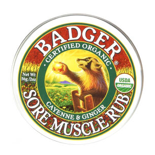 Badger Balm Mini Sore Muscle Rub Cayenne & Ginger 21g, , large