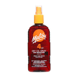 Malibu Sun Dry Oil Spray SPF4 200ml, , large