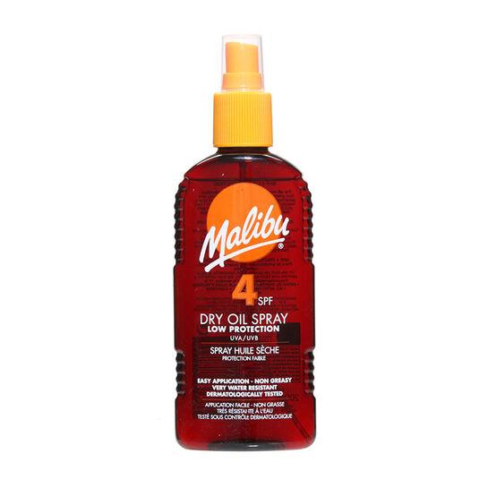 Malibu Sun Dry Oil Spray SPF4 200ml, , large