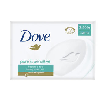Dove Pure & Sensitive Beauty Bar 2 x100g, , large