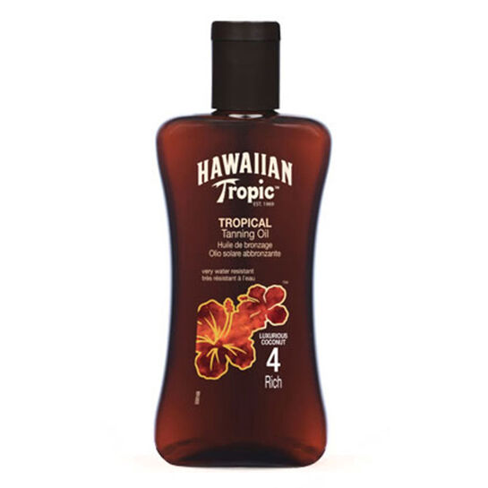 Hawaiian Tropic Tanning Oil Rich SPF4 200ml, , large