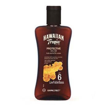 Hawaiian Tropic Protective Dry Oil SPF6 200ml, , large