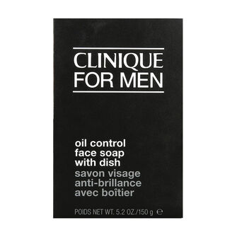 Clinique Men Mild Oil Control Face Soap With Dish 150g, , large