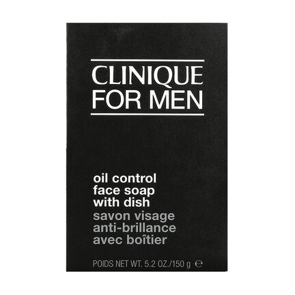 Clinique Men Mild Oil Control Face Soap With Dish 150g, , large