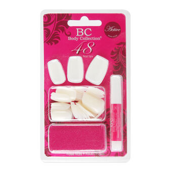 Body Collection White Nail Tips Set, , large