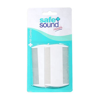 Safe & Sound White Nit Combs 2 pcs, , large