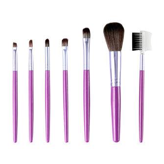 Laurelle 7 Piece Professional Make Up Brush Kit Purple, , large