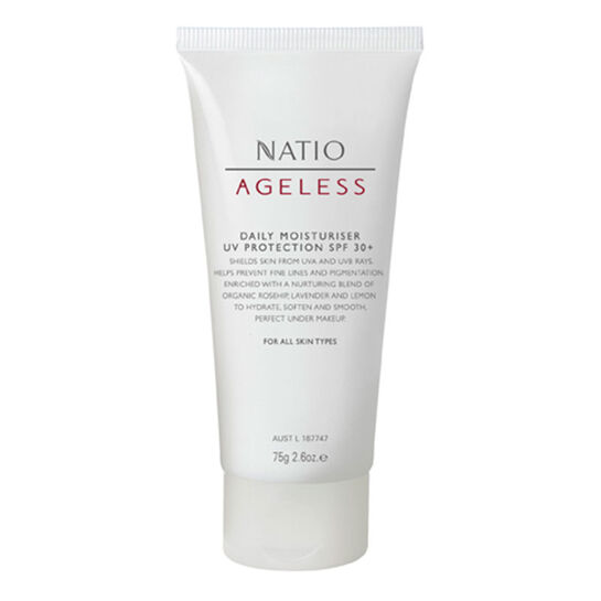 Natio Ageless Daily Moisturiser UV Protection 75g SPF30, , large