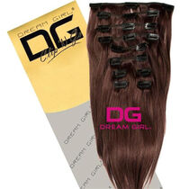 DREAM GIRL Euro Clip On Hair Extensions 20 Inch 7, , large