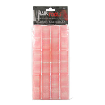 Hair Tools Small Velcro Rollers Pink 25mm, , large
