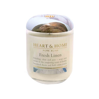 Heart & Home Fresh Linen Large Candle 725g, , large