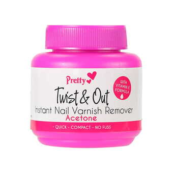 Pretty Twist & Out Instant Nail Polish Remover With Acetone, , large