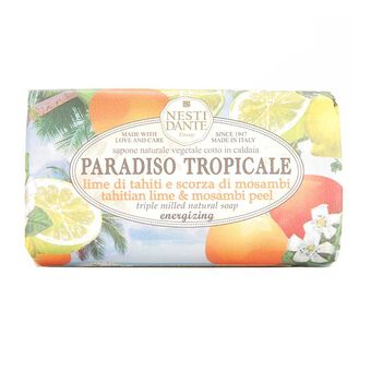 Nesti Dante Paradiso Tropicale Lime & Mosambi Peel Soap 250g, , large