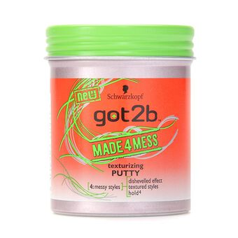 Schwarzkopf Got2b Made 4 Mess Texturizing Putty 100ml, , large